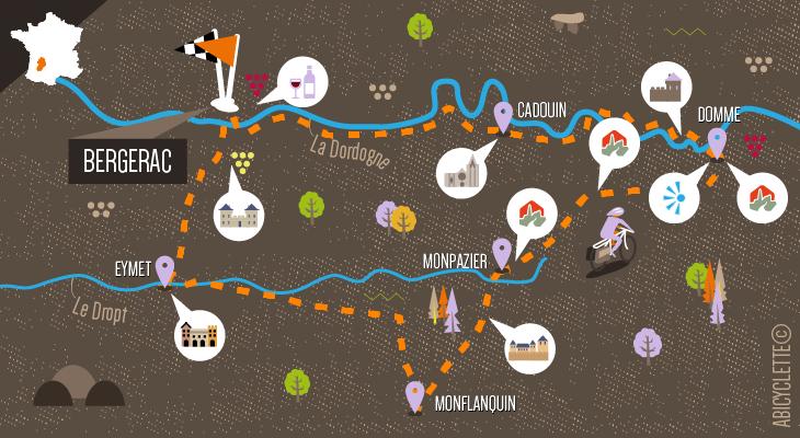 Carte séjour Dordogne et le Pays des Bastides