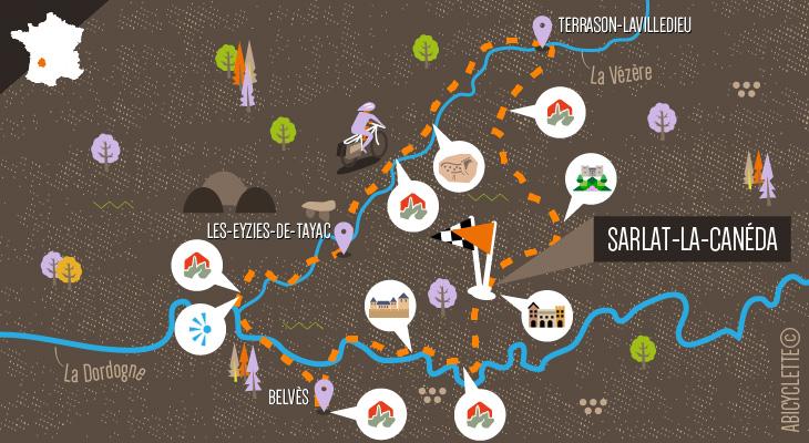 Carte Sarlat et le Périgord noir