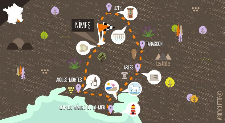 Carte - Évasion entre Provence et Camargue
