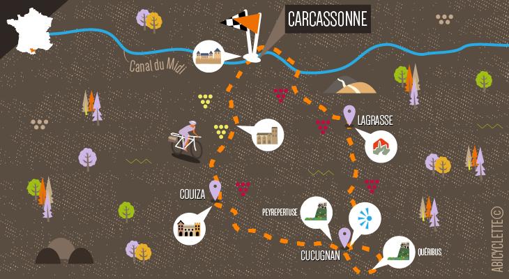 Itinéraire Carcassonne et les châteaux cathares