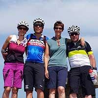 4 voyageurs à vélo