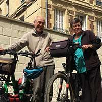 couple de voyageur à vélo