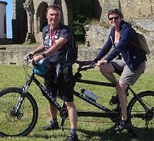 voyage à vélo en tandem