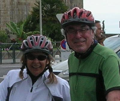 couple voyage à vélo