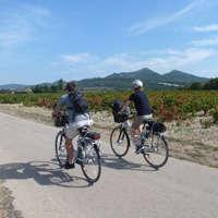 voyageurs à vélo en Provence