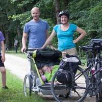 famille voyage à vélo