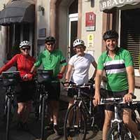 groupe voyageur à vélo